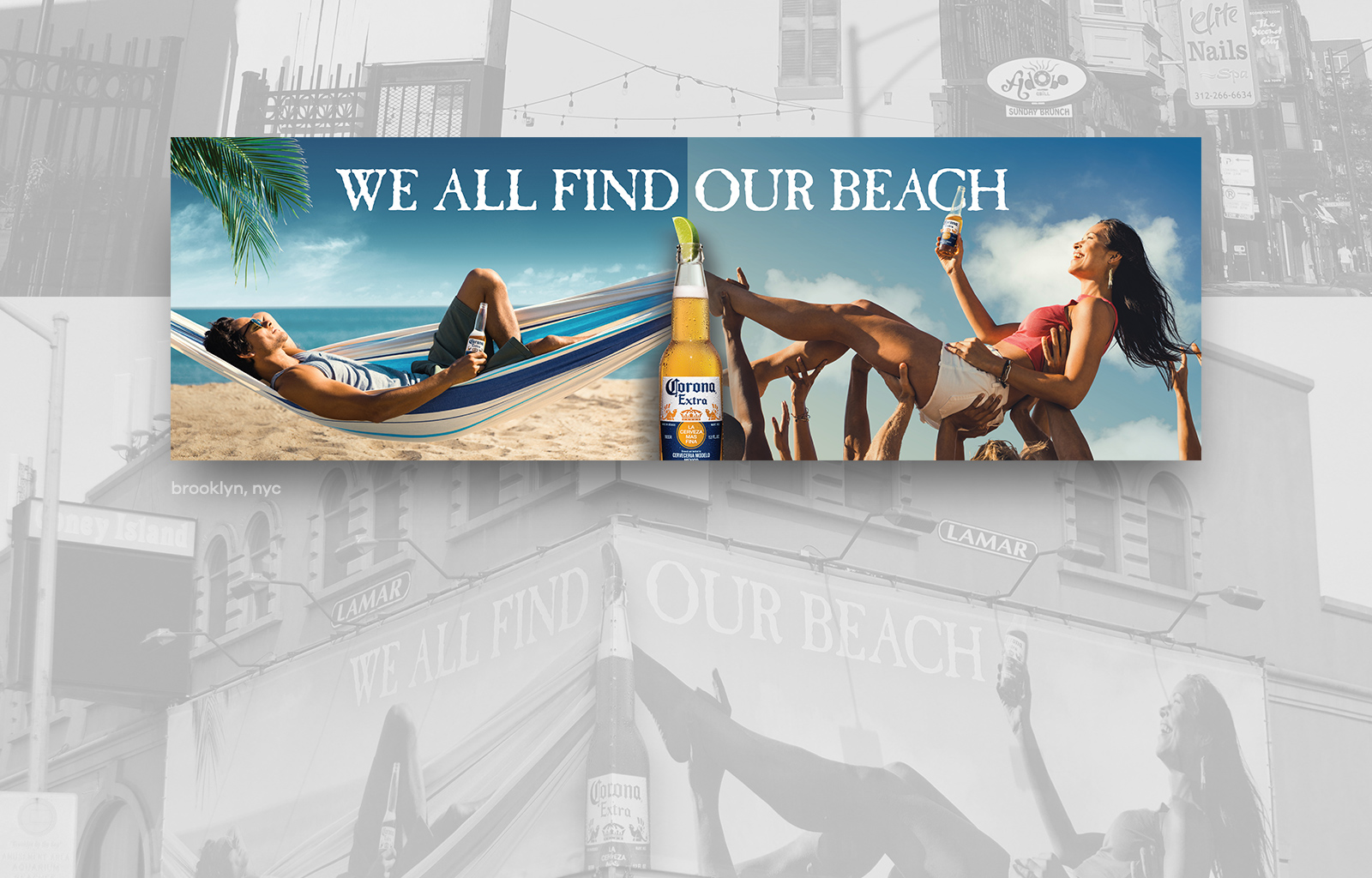 Corona Surfing Billboard@1x